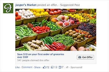 an example of a Facebook Offer Ad
