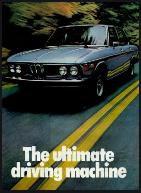 BMW's slogan
