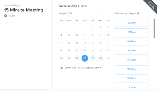 Calendly Meeting Scheduler