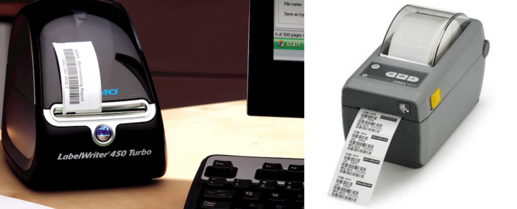 Dymo and Zebra thermal label printers