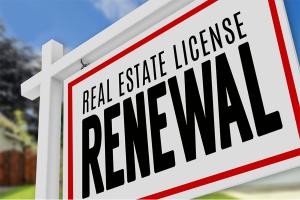Real Estate License Renewal Sign
