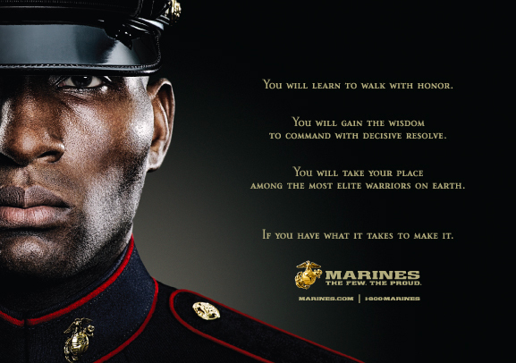The U.S. Marine Corps' slogan