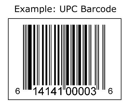 UPC barcode example