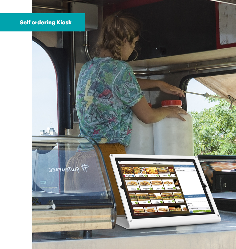 an example of TouchBistros self service kiosk option