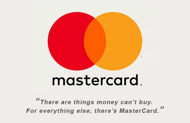 Mastercard - best slogans