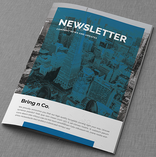 Corporate Real Estate Newsletter Template - real estate newsletter templates