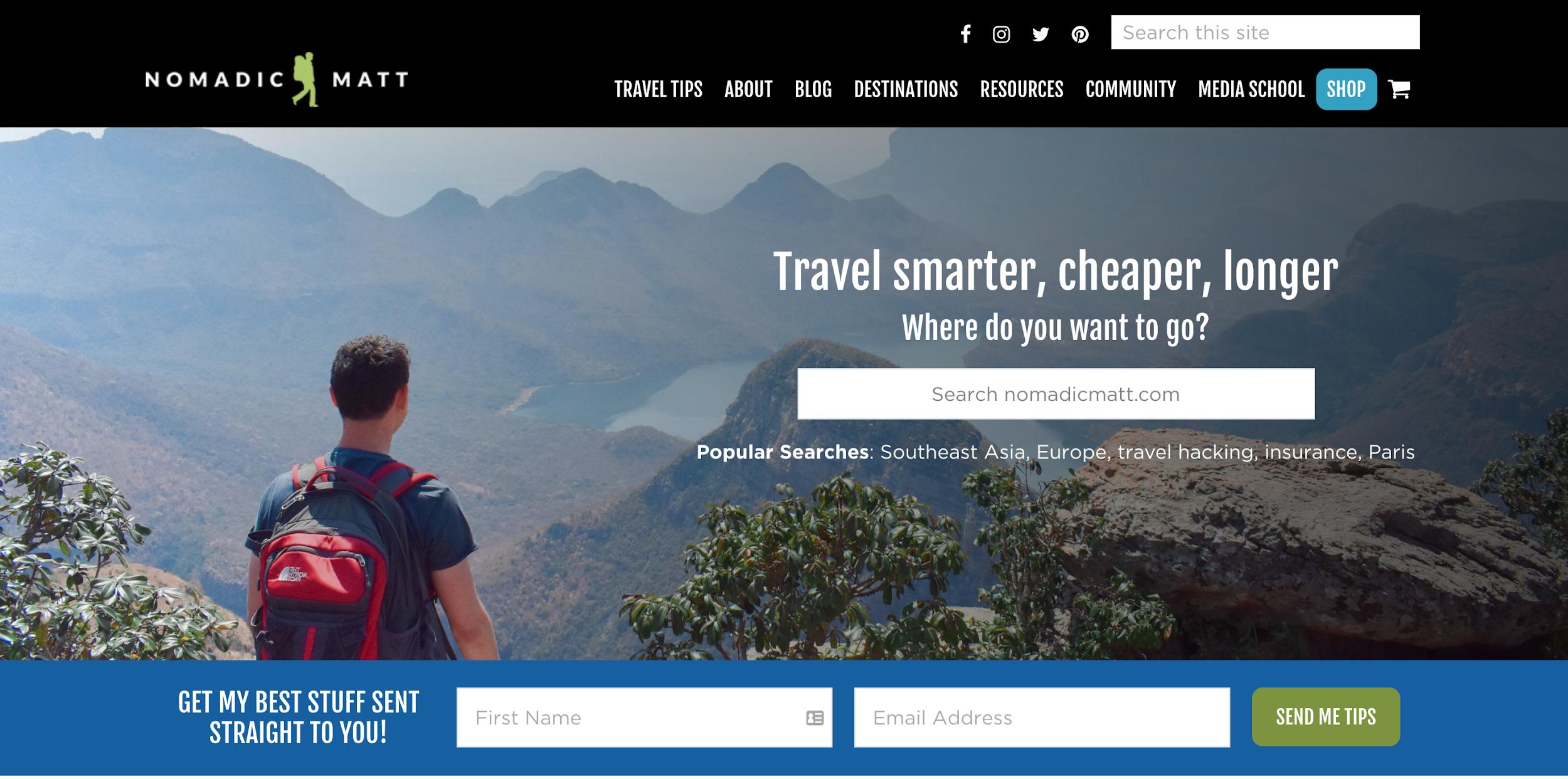 nomadic matt blog