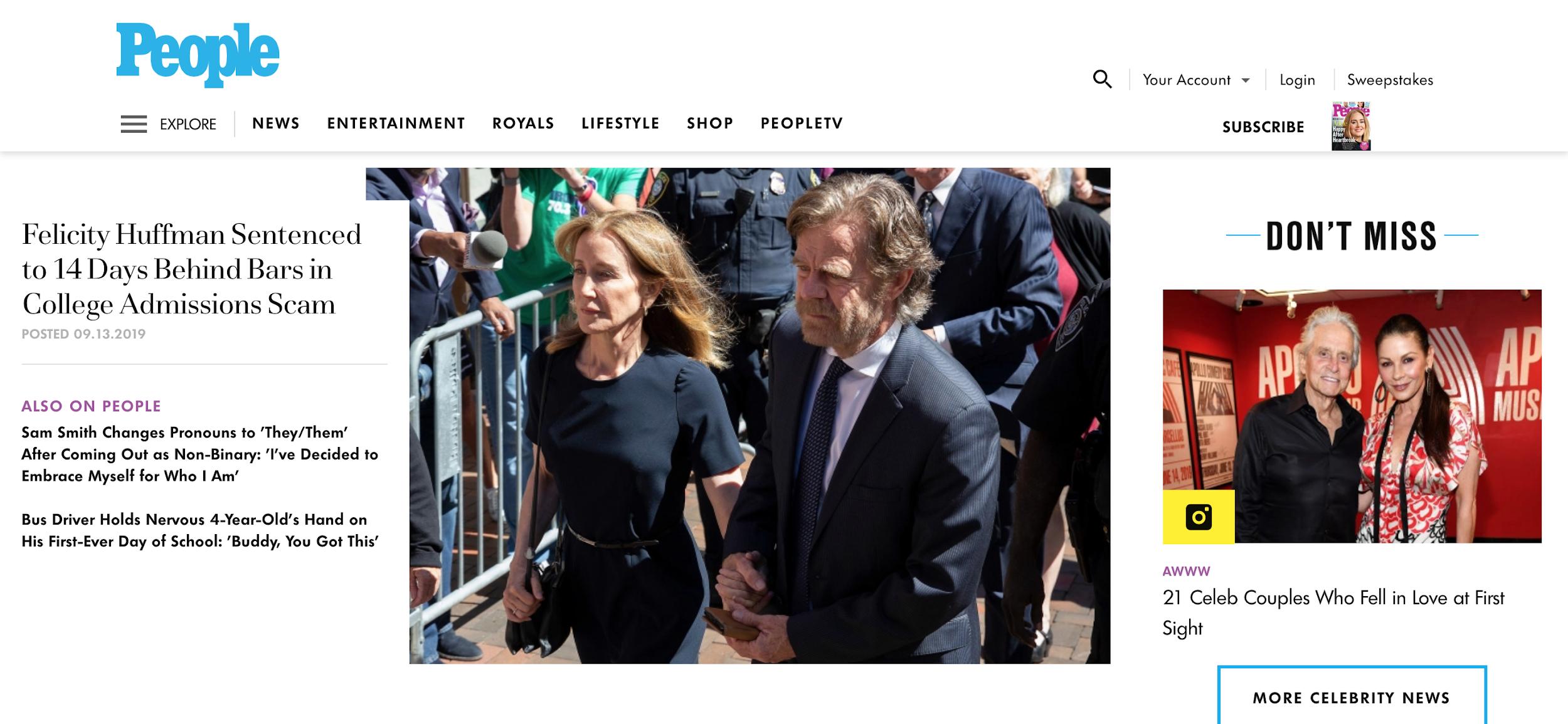 people.com homepage