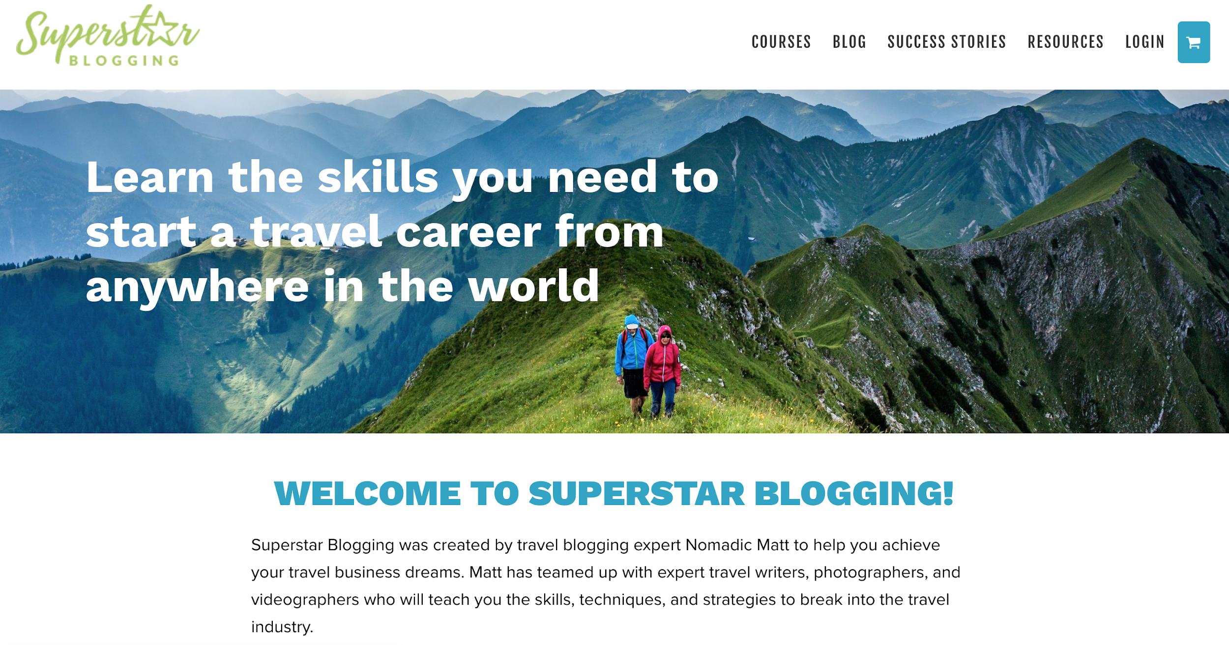 nomadic matt blog course screenshot