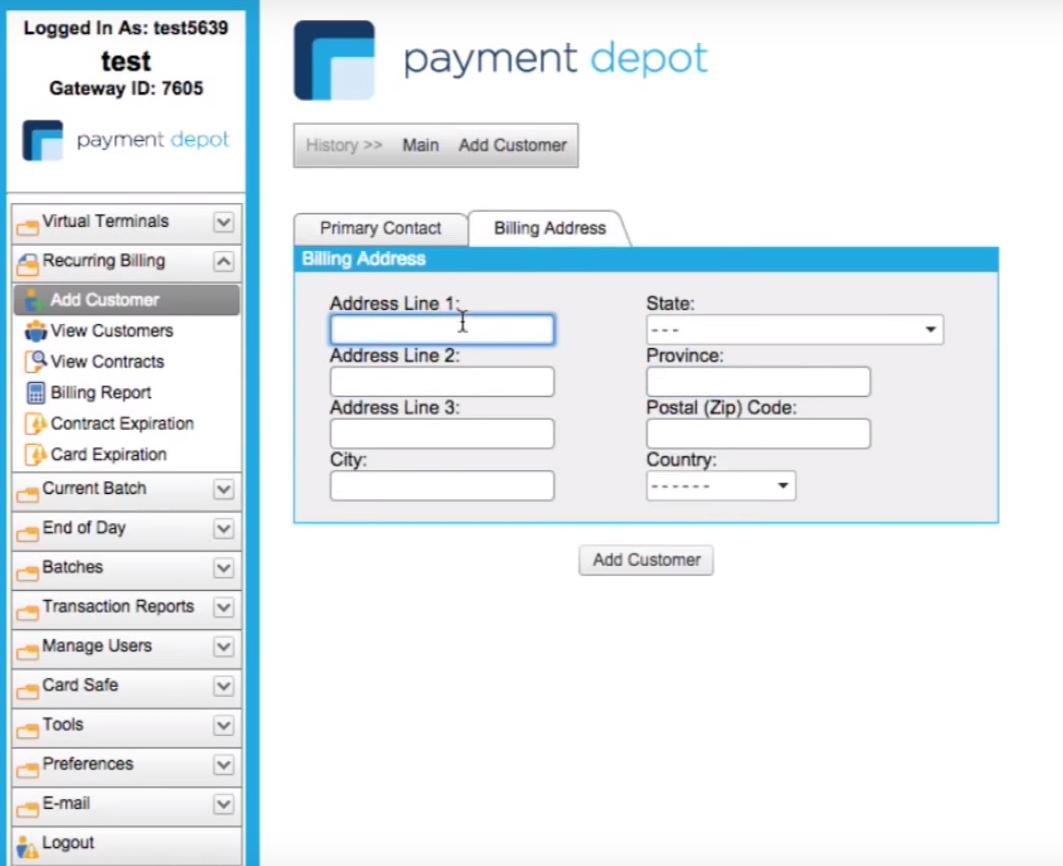 payment depot dashboard