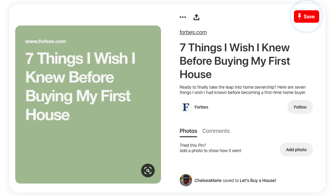 pinterest screenshot