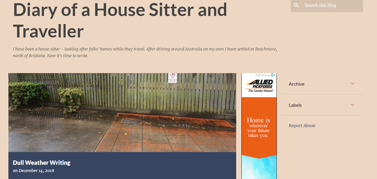 the diary of a house sitter blog