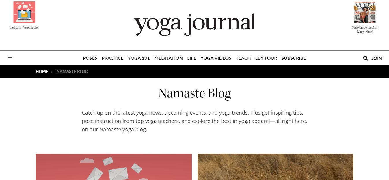 the yoga journal blog