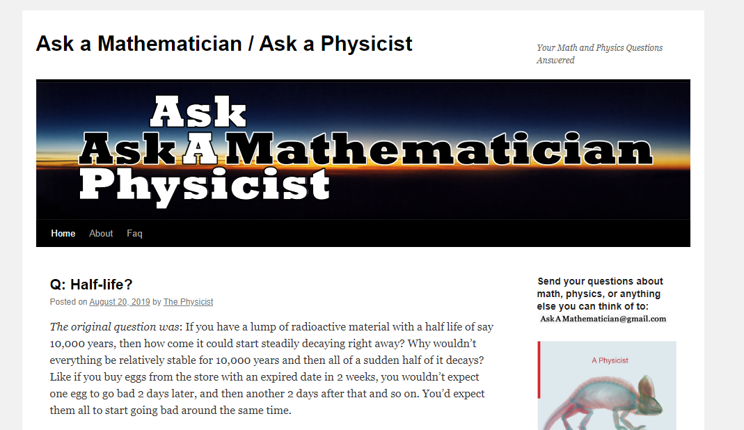 ask a mathematician blog