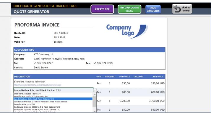Price Quote Generator & Tracker