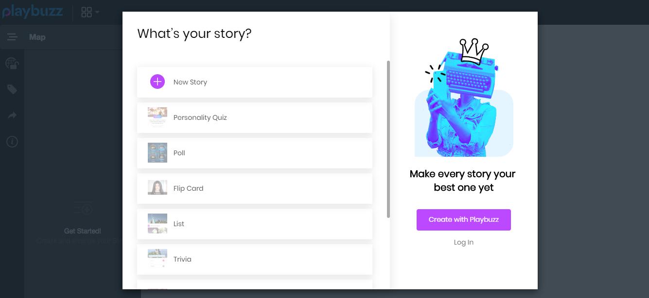 Creating quizzes via Playbuzz