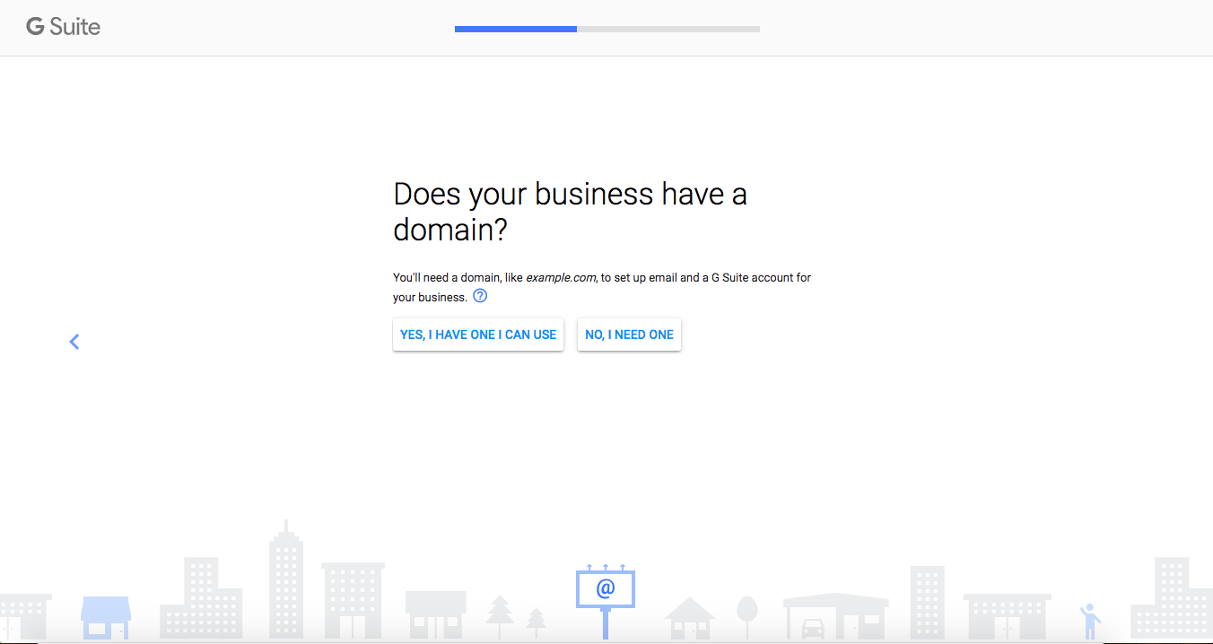 Connect or register a domain name