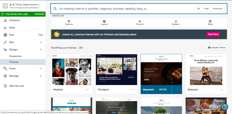 wordpress website theme
