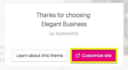 customized site