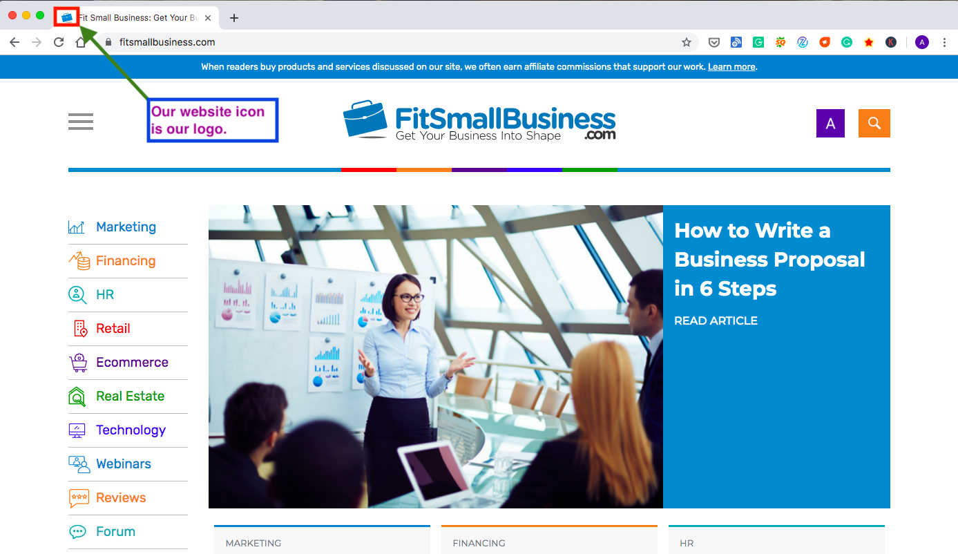 fit small business website icon