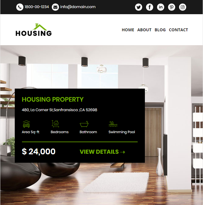 Housing Real Estate Newsletter Template - real estate newsletter templates