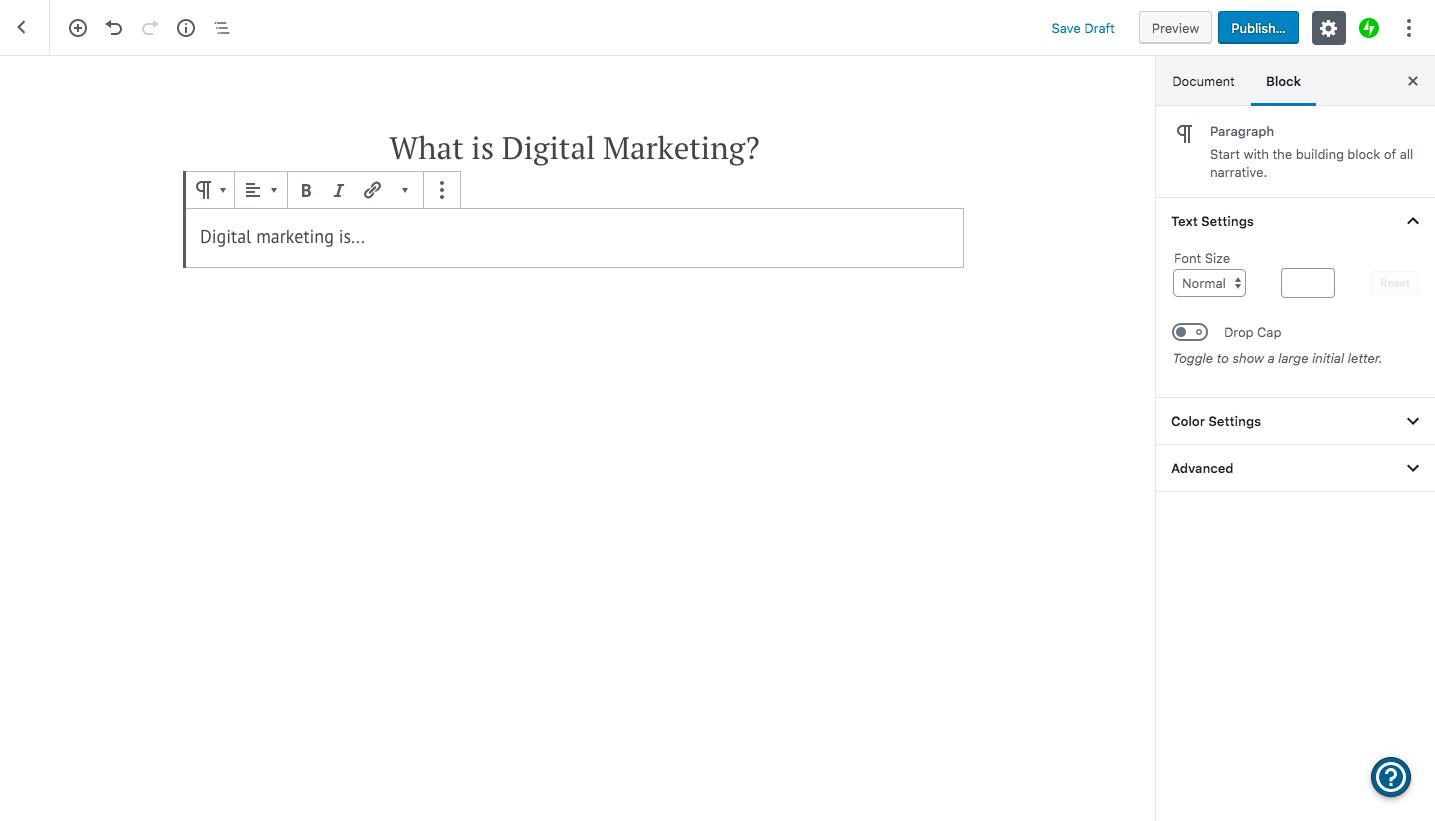 adding wordpress website blog post copy