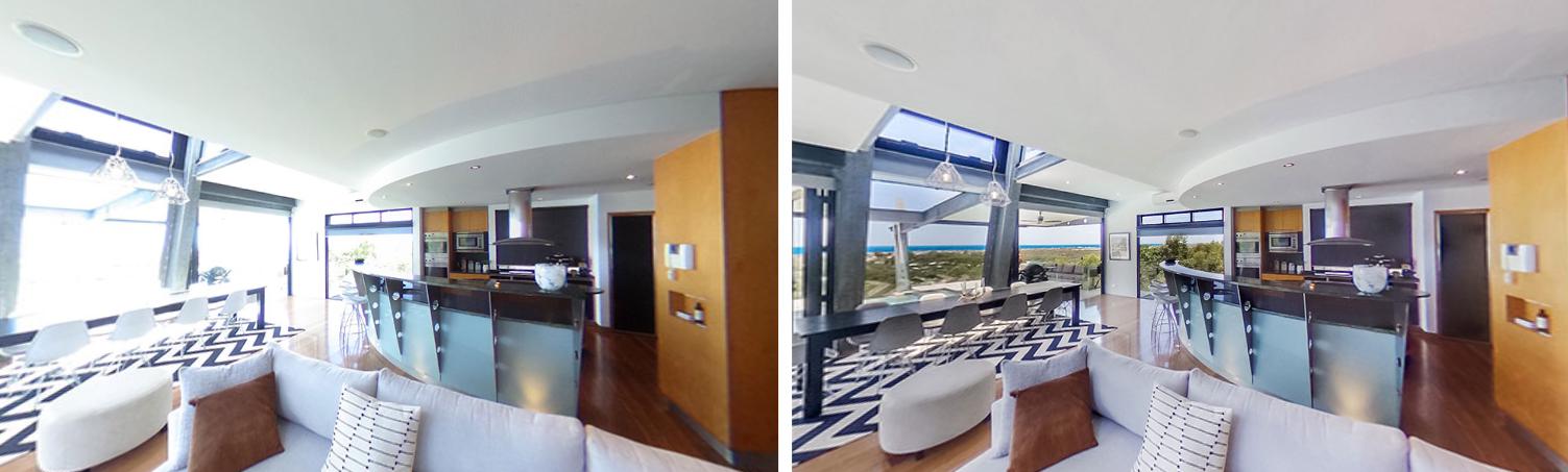 BoxBrownie 360-degree photo editing example