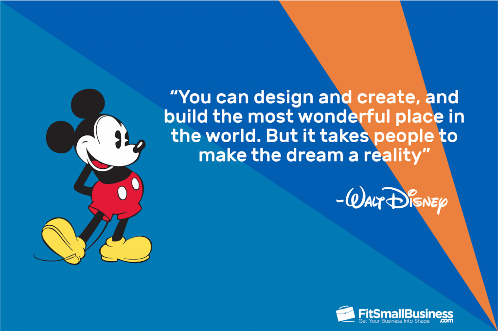 walt disney quote graphic on collaboration