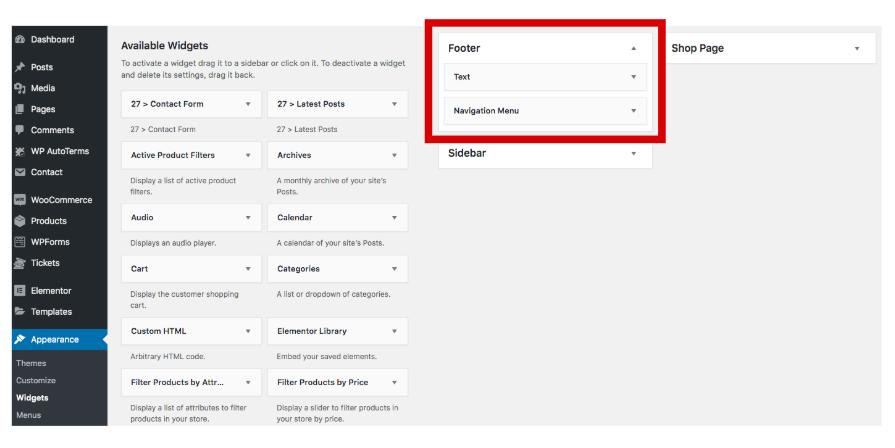Edit your WordPress footer