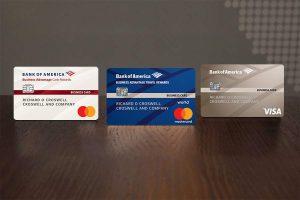 three differrent credit cards