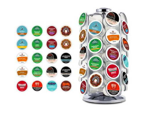 Keurig K-Cup 40-count coffee bundle with carousel storage stand