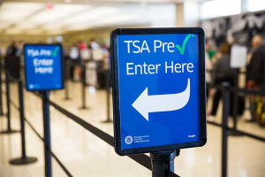 TSA Pre Checkup Signage