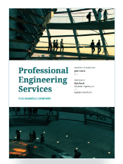 Proposify's Professional Engineering Services proposal template