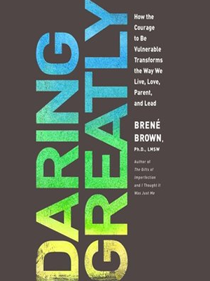 "cover design for New York Times bestseller book ""Daring Greatly."""