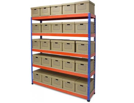 Light-duty storage shelves