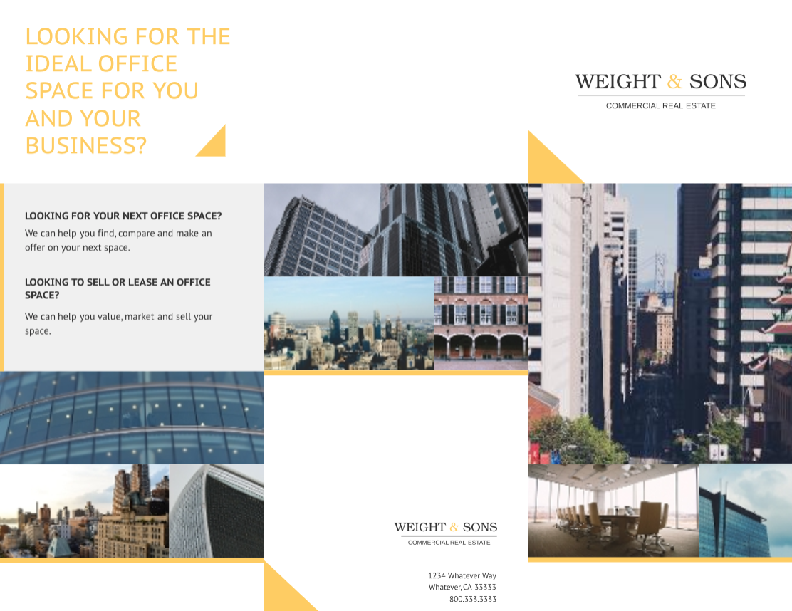 Commercial Real Estate Trifold by Lucidpress