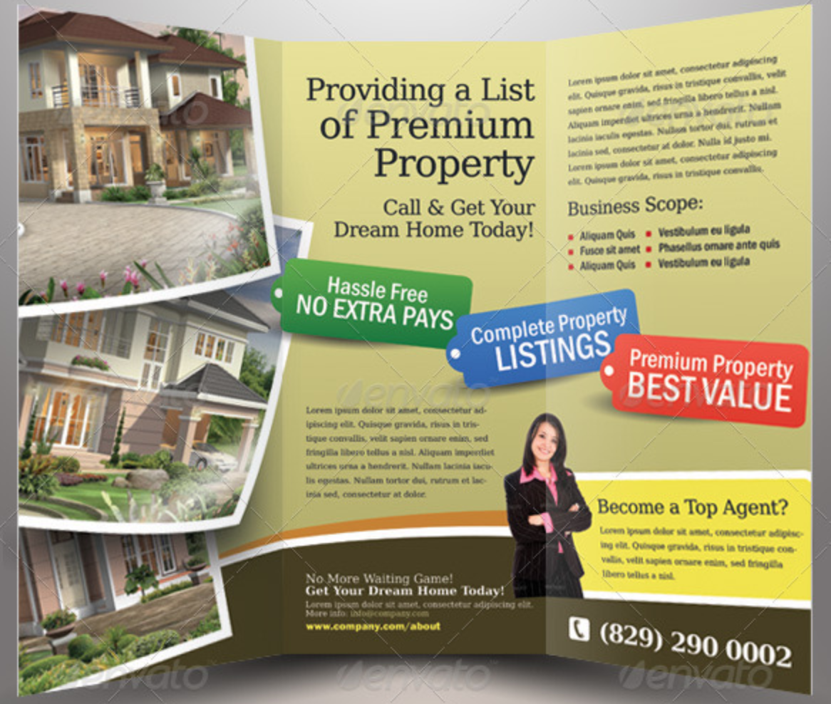 Real Estate Trifold Brochure V2 by Kinzi21