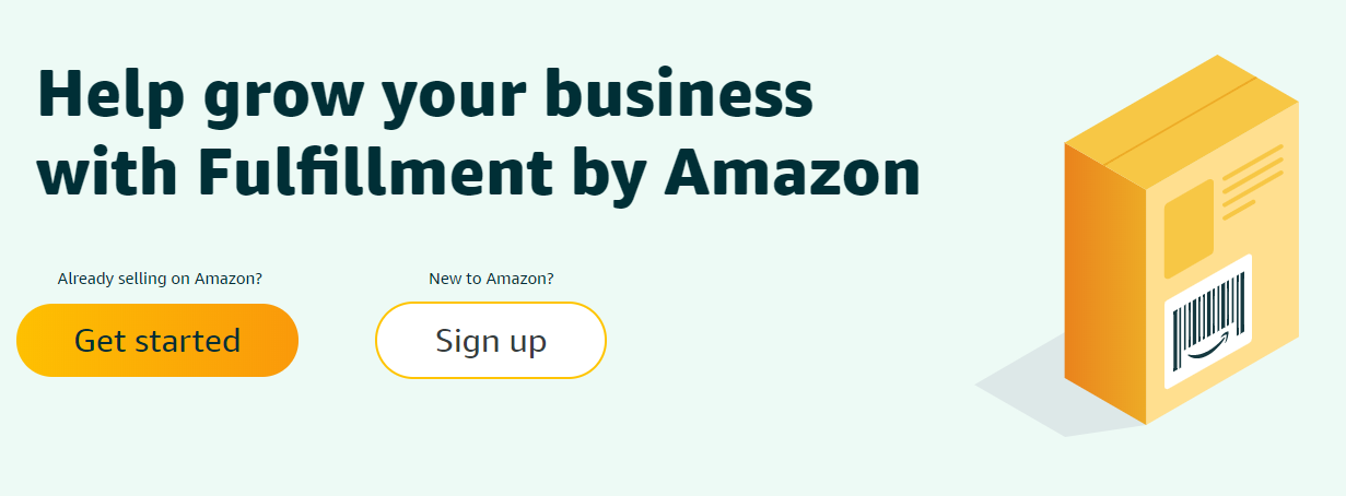 Fulfillment by Amazon signup
