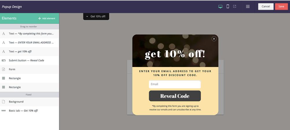 Privy email campaign design