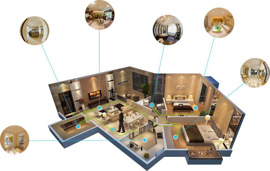 TourWeaver floor plan navigation