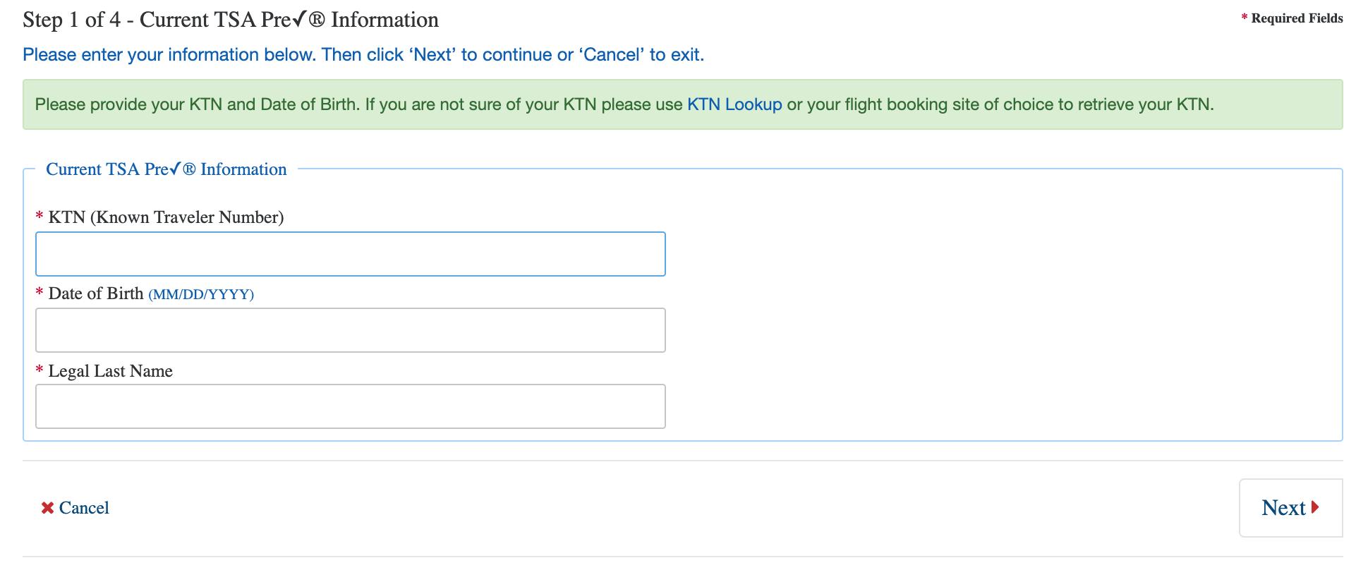 The four-step TSA PreCheck renewal process
