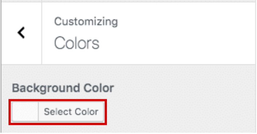 Set your background color or image in WordPress