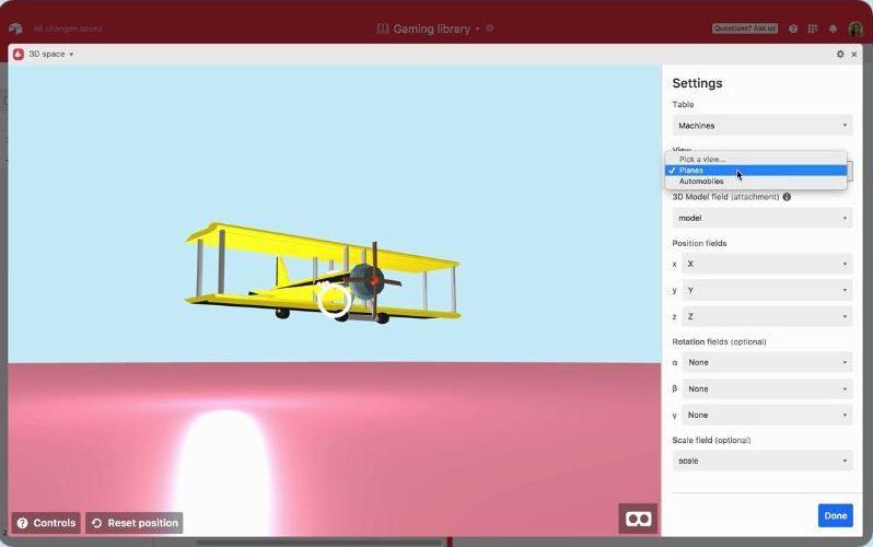 Airtable blocks feature