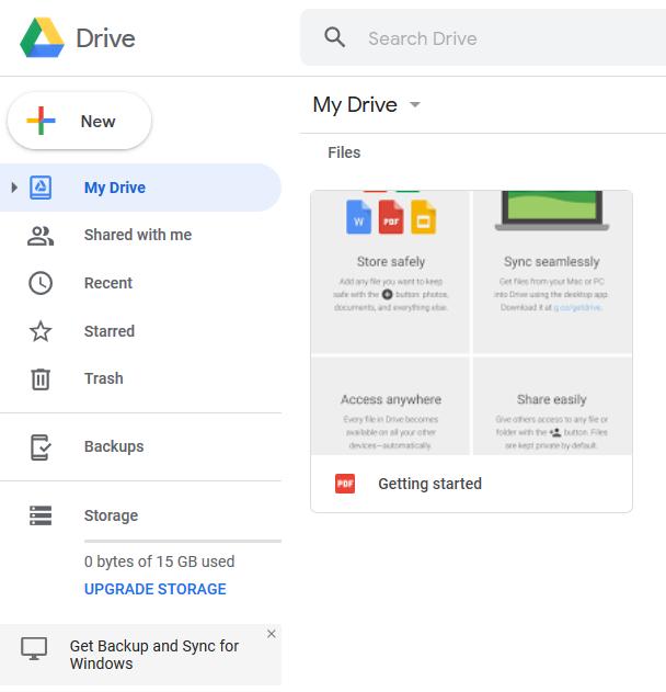 Google drive my drive folder