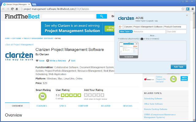 clarizen app screenshot