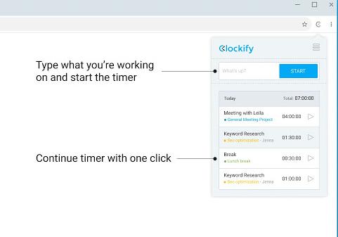 clockify screenshot