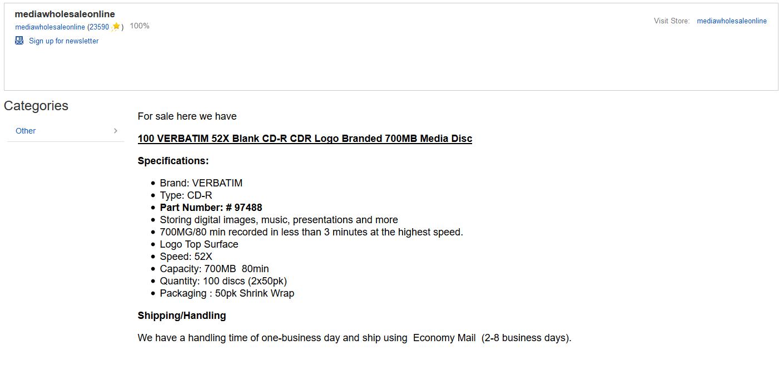 ebay product description example