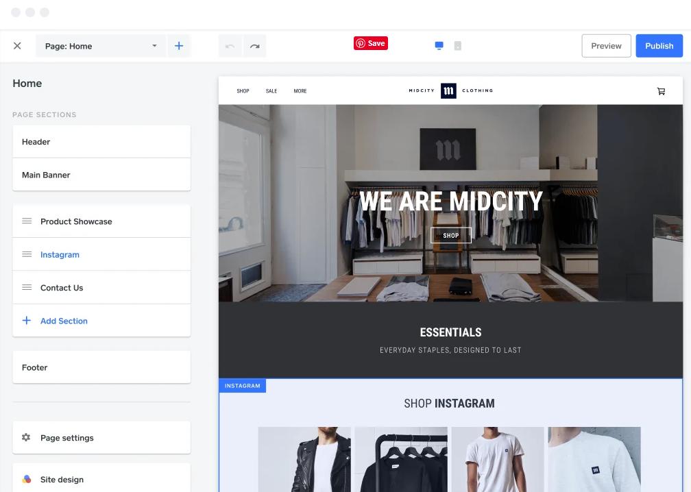 best free ecommerce website builder