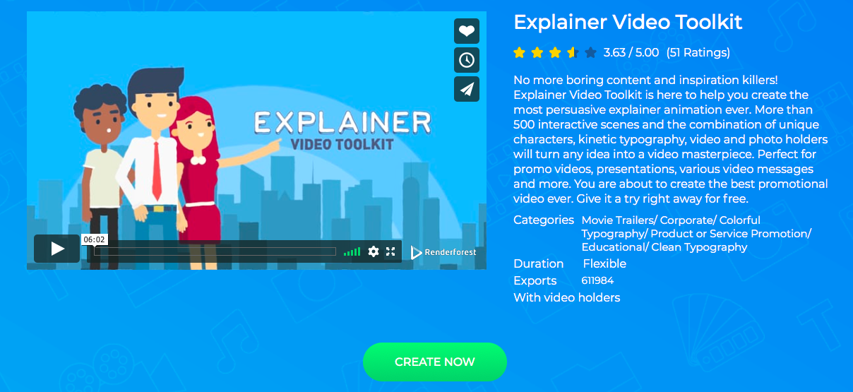 Explainer Video Toolkit from Renderforest