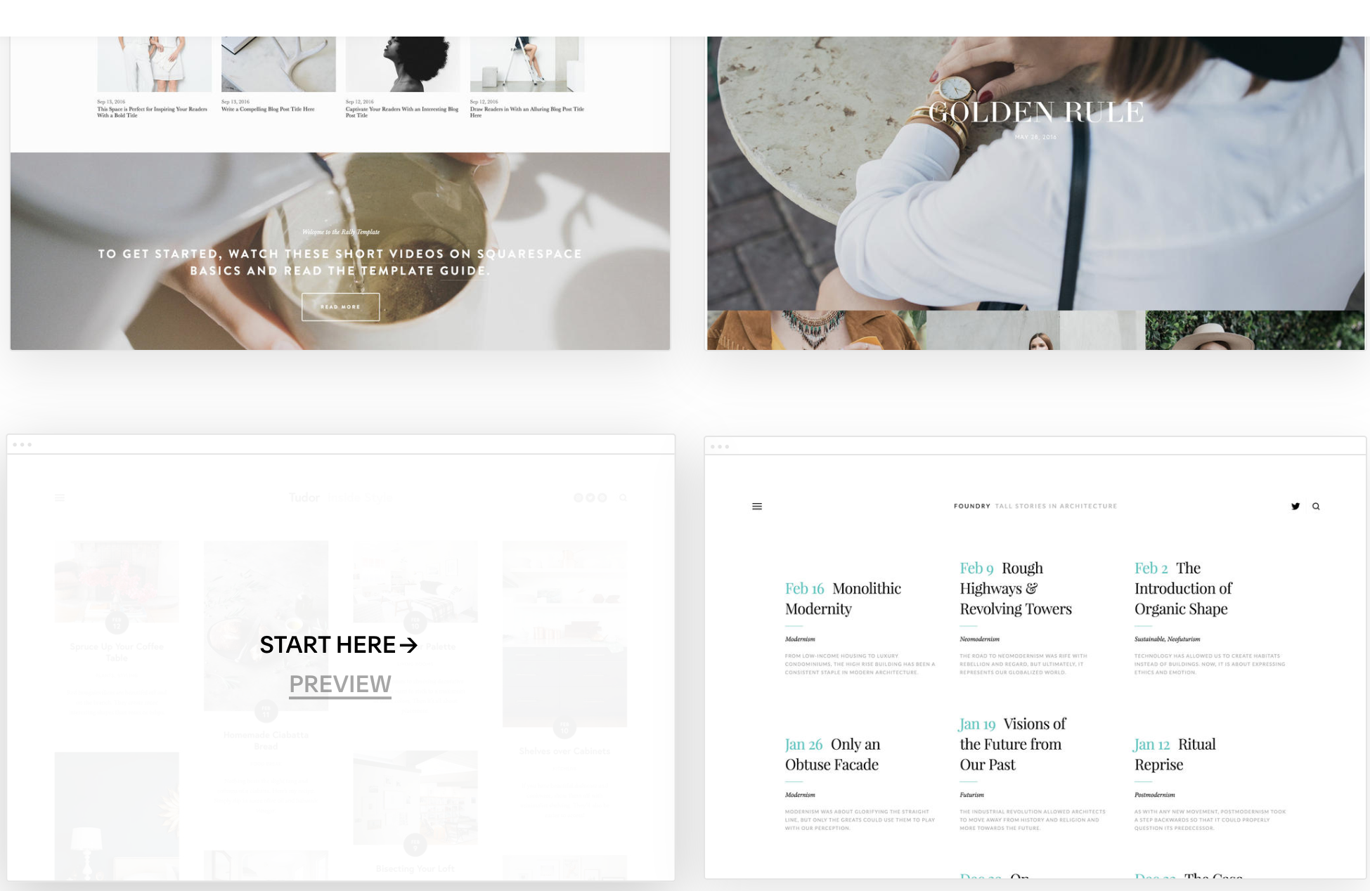 Squarespace blog theme